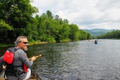 Glenn paddling our canoe