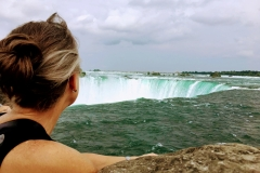 Rachel Gazing Over the Falls