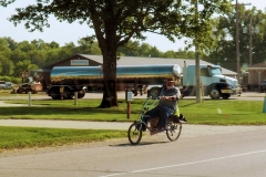 Amish recumbent bike
