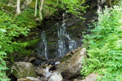 A secret waterfall on the side of Killington Peak